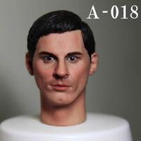 "A-18 1:6 Scale Men's Head Sculpt Carved Model Fit 12"" Male Solider Figure Body"