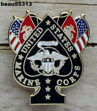 UNITED STATES MARINE CORPS USMC GREAT FOR HARLEY BIKER VEST JACKET PIN