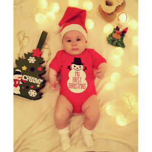 My First Christmas Unisex Snowman Baby Romper
