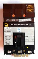 SQUARE D CIRCUIT BREAKER FA36020, 20 AMP, 3 POLE, 600 VAC, W/ MOUNTING BRACKET