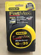 Brand New STANLEY FatMax BladeArmor 10m/33' tape measure 33-832