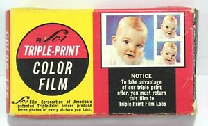 Triple Print Color Film Package Color 126 12 Exposure Box Open But Pack Sealed