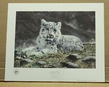 Spiritual Heir by Charles Frace-Wildlife-COA-Tennessee Artist-snow leopard