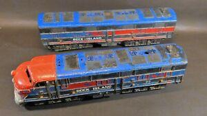 Vintage Marx Rock Island 99  A  B Unit Dummy O scale Locomotives