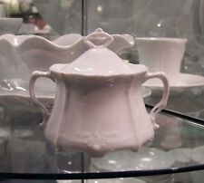 Hutschenreuther Baronesse White Sugar Bowl w/ Lid, new Rosenthal