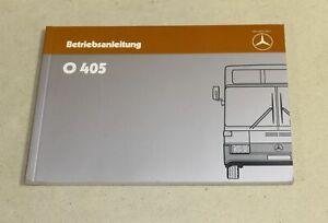 Betriebsanleitung Mercedes Bus O 405, Omnibus , Ausgabe 1985