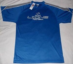 Detroit Lions Birdseye Jersey Shirt Large Tall Stay Dry VF Imagewear NFL