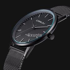 Classic Luxury Thin Men Stainless Steel Strap Sports Analog Quartz Wrist Watch