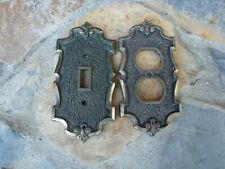 Vintage Amerock Antique Brass Outlet & Switch Cover Plates