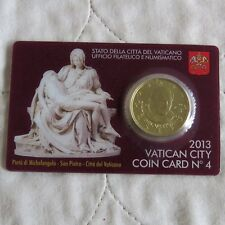 VATICAN CITY 2013 BRILLIANT UNCIRCULATED 50 CENTS - sealed coin card pack 4