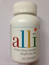 ALLI Weight Loss Aid 120 Pill / Capsule Refill Pack Orlistat 60mg Ali Ally Allie