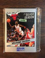 1991 Star Co.  MICHAEL JORDAN The SILVER SEASON Bulls S/GLOSSY Bulls unopen Set