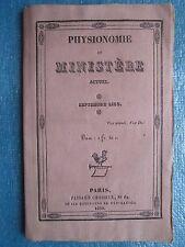 PHYSIONOMIE DU MINISTERE ACTUEL, 1830. Rare publication.