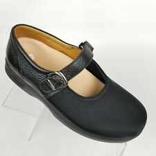 Dr Comfort Merry Jane Womens Mary Jane Black Lycra Sz 8.5 XW Extra Wide Flats