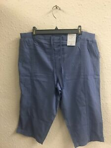 Yours 100% Cotton Pull On Shorts Blue Size 18 NWT