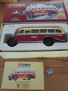 Corgi 33803 Bedford OB Coach British Railways 1:50 boxed with Corgi (cute!) mint