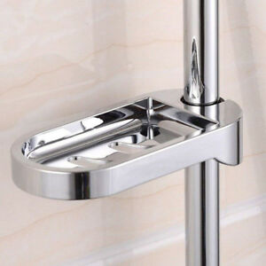 Shower Rail Soap Dish Holder Slide Plates Smooth Bath Tray Fit For 24/25mm Tube