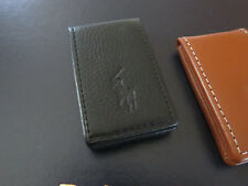 NEW RALPH LAUREN POLO Magnetic Money Clip in Black or Brown Leather