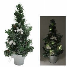 40cm Pre-Lit Artificial Mistletoe Christmas Tree with Decorations