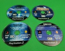 Lot of 4 PS2 Demo Discs! Not for Resale Loose Discs Only Tested & 100% Working!