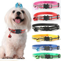 Adjustable Reflective Pet Dog Cat Collar Buckle Flashing Neck Strap with Bell