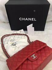 Chanel Timeless Double Flap Bag Jumbo Tasche rot mit Rechnung