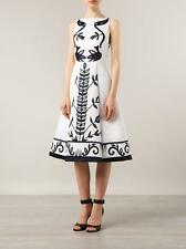 ALICE AND OLIVIA NWT $450 White Black Floral Printed Sleeveless Cocktail Dress 2