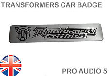 Transformers Armada Badge Brushed Aluminium Universal Car Van Truck Badge - UK