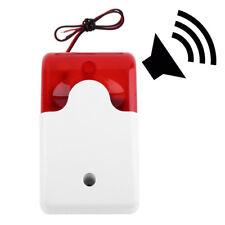 12V cubierta Sistema alarma seguridad hogar sirena atado alambre interior 12V