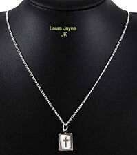 Silver colour Bible style Locket Necklace