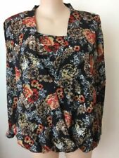 Career Machine Washable Millers Falls Company Floral Tops for Women
