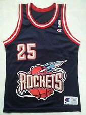 VINTAGE CHAMPION MADE IN USA HOUSTON ROCKETS #25 ROBERT HORRY JERSEY IN SIZE 36