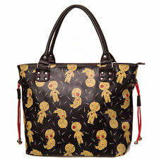 Banned Apparel Distractions Voodoo Dolls Gothic Punk Rock Handbag Tote Bag Purse