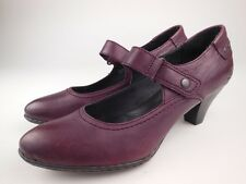 BORN Purple Leather Mary Jane Heels Shoes Sz 8