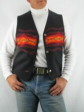 Pendleton Reversible Indian Wool Blanket Vest, Size M   M1A