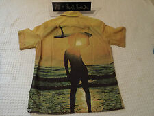 """PAUL SMITH Mens Shirt 🌍 Size M (CHEST 44"""") 🌎 RRP £95+ 📮 AWESOME SURFER PRINT"""