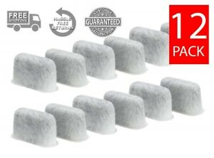 (12) Replacement Charcoal Water Filters for ALL Braun Coffee Makers, BRSC004