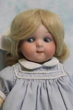 """Antique 9"""" German bisque Googly 200 plus 243 blue glass eyes side glancing By AM"""