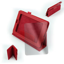"""CASE COVER+SCREEN PROTECTOR MAGNETIC POUCH PU LEATHER RED GOOGLE ASUS NEXUS 7"""""""