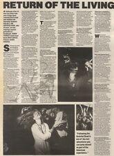 21/10/89Pgn44 Article & Picture Garcia Of Grateful Dead 'return Of The Living De
