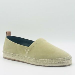 $450 Loewe Men's Beige Suede Espadrille Slip on Shoes w/logo 42/US 9 45318314813