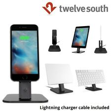 Twelve South HiRise Deluxe Charger Stand Mount Desktop iPhone 6 7 iPad - Black