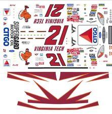 #21 Elliott Sadler Virginia Tech 1/43rd Scale Slot Car Decals