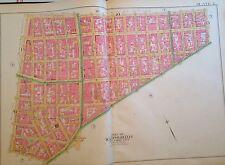 1891 Lower East Side The Bowery Little Italy Manhattan Original Plat Map Atlas