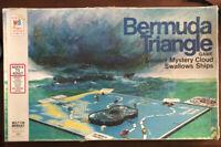 RARE Vintage 1975 Milton Bradley Bermuda Triangle Board Game missing red ship