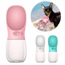 Portable Pet Travel Water Bottle Dog Cat Drinking Feeding Bowl Outdoor Feeder