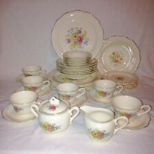 Vanity Fair ROSE MARIE China Set, 5 Settings + Extras, Excellent Roses & Gold