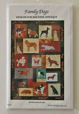 Family Dogs #9304 Critter Pattern Works Quilting Machine Applique Designs 1993
