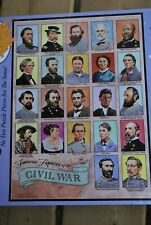 BITS AND PIECES PUZZLE, FAMOUS FIGURES FROM THE CIVIL WAR, 1500 PCS, NEW SEALED