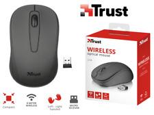 Nero Trust Ziva Mouse Ottico Wireless con 3 pulsanti Personal Computer (y1o)